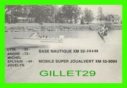 QSL - MOBILE SUPER JOUALVERT - XM-52-9004 - ST-LUC, QUÉBEC - BATEAU, SKI NAUTIQUE - BASE NAUTIQUE XM-52-38488 - - Radio Amateur