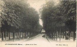 28039. Postal AY En CHAMPAGNE (Marne). Avenue De La GARE - Ay En Champagne