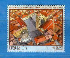 Italia °- 2017 -   Pistoia Capitale Italiana Della Cultura. - Leggera Piega Della Carta  A Destra .   Vedi Descrizione. - 6. 1946-.. República
