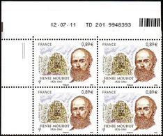France Coin Daté N° 4629 ** (2tirets) Explorateur, Henri Mouhot Du 12.07.2011 - 2010-....