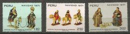 Peru - 1971 Christmas MNH **  Sc 563-5 - Peru