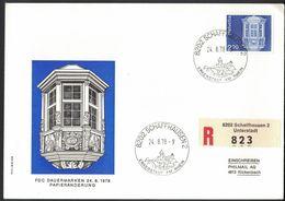 VE131   SWITZERLAND - Stamp With Registered Letter - First Day - Dauermarken  - Schaffhausen - 24.08.1978 - Svizzera