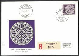 VE132   SWITZERLAND - Stamp With Registered Letter - First Day - Dauermarken  - Lausanne - 24.08.1978 - Svizzera