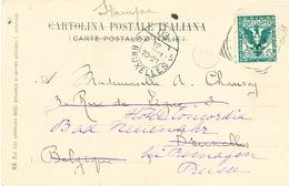 ZZ334 -  Carte-Vue De VENISE TP Italie 1903 Vers BRUXELLES - Réexpédiée Vers Prusse Avec Cachet Ovale Des IMPRIMES BXL 5 - Marcophilie