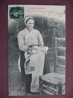 CPA 31 TOULOUSE TYPES MERIDIONAUX Costume Traditionnel Femme PAYSANNE DES ENVIRONS DE TOULOUSE 1909 - Toulouse