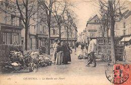 28-CHARTRES- LE MARCHE AUX FLEURS - Chartres