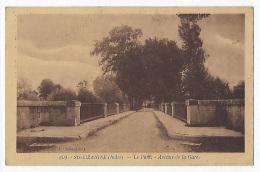 CPA 36 Indre Ste Sainte Lizaigne Peu Courante Le Pont Avenue De La Gare Près De Issoudun Charost Reuilly Vierzon Paudy - Francia
