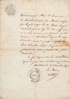 MUHLBACH (HAUT-RHIN) - ATTESTATION DU MAIRE DE 1853 - PIÈCE UNIQUE - Documents Historiques
