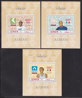 AJMAN N°   94, AERIENS N° 46 ** MNH Neufs Sans Charnière, 6 Feuillets, TB (CLR254) Vainqueurs Jeux Olympiques Mexico - Ajman