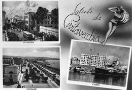 CIVITAVECCHIA-SALUTI DA-1956 - Civitavecchia