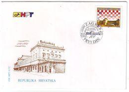 CROATIA FDC 200,trains - Trains