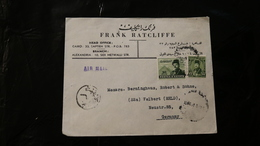 Egypt King Farouk Pyramids 17m 30m To Germany Cancelled 1951 A04s - Egypt