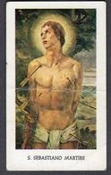 ITALY SANTINO S. SEBASTIANO MARTIRE SEE 2 Scans Piega - Religione & Esoterismo