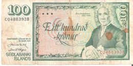 SEDLABANKI ISLANDS 100 Kronur - Islanda