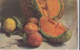 70540- CARLO CHIOSTRI- STILL LIFE WITH FRUITS, SIGNED ILLUSTRATION - Chiostri, Carlo