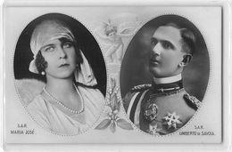 """482 """" IL MATRIMONIO TRA MARIA JOSE' E  UMBERTO DI SAVOIA-8/1/1929  """" - CART. ORIG.  NON SPEDITA - Case Reali"""