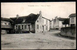 CP03-01 : Dept 03 (Allier) TREZELLE - Place De L'église Hôtel Café Du Méridien Vers 1910 - France