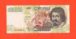 100.000 100000 Lire 1995 Caravaggio II° Tipo A Colori - [ 2] 1946-… : Républic