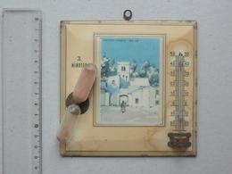 TLEMCEN (Algérie): Minuteur Thermomètre Ancien Avec Une Image UNE RUE - Prix Au Verso - Publicité