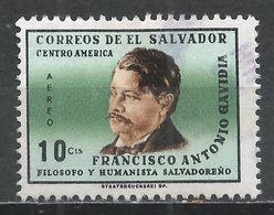 Salvador, El 1965. Scott #C224 (U) Francisco Antonio Gavidia, Philosopher * - Salvador