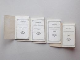AGENDA 1887 (ou Tablettes Journalières): 1e, 2e, 3e Et 4e Trimestre - Année Complète - Calendars