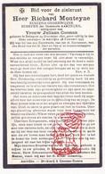 DP Schepen Onderwijzer - Richard Monteyne ° Bekegem 1870 † Aartrijke 1935 X J. Coeman - Devotion Images