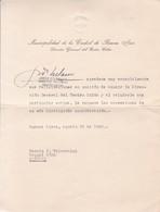JORGE D'URBANO. DIRECTOR DELEGADO TEATRO COLON. AUTOGRAPHE SIGNATURE.-TBE-BLEUP - Autographes