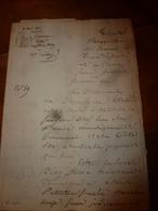 1840 Liasse De Manuscrits -> Actes Concernant Nicolas Vacher Bourrelier à Charrey (21) Et Bailleux Aubergiste à Charrey - Manuscrits