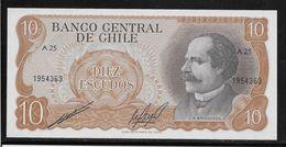 Chili - 10 Escudos - Pick N°143 - Neuf - Chile