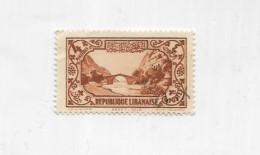 Francobolli Republique Libanaise 4 Piastres - Libië