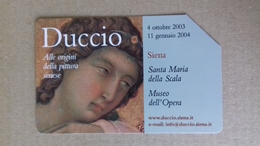 Scheda Telefonica DUCCIO - Siena - 2003 - Usata - Publiques Thématiques