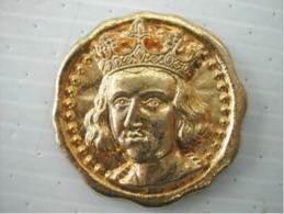 Fève Médaille Dorée -  Saint Louis 1214 1270 - History