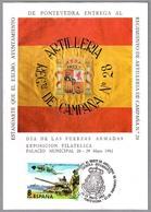 ENTREGA ESTANDARTE AL RACA 28 (Regimiento De Artilleria De Campaña Num 28). Pontevedra, Galicia, 1982 - Militares