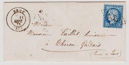 Cérès N° 60 A Position 141 B2 2 éme état GC 653 Brou Sur Lettre 2 Scans - 1871-1875 Cérès