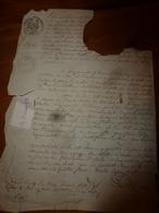 1831 Acte Manuscrit Avec Cachet Royal  (morceau Manquant) - Manuscrits