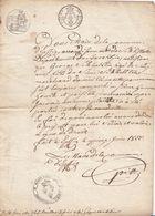 EPFIG (BAS-RHIN) - CERTIFICAT DU MAIRE DE 1822 - PIÈCE UNIQUE - Historische Documenten