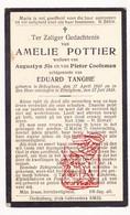 DP Amelie Pottier ° Bekegem Ichtegem 1841 † Ettelgem Oudenburg 1918 X A. Sis Xx P. Cooleman Xxx E. Tanghe - Devotion Images