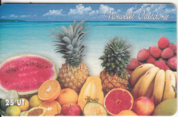 NEW CALEDONIA(chip) - Exotic Fruits, Tirage 50000, Exp.date 31/12/07, Used - New Caledonia