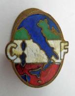 Vecchia Spilla Distintivo CF Fascio Fascismo Old Pin Fascista - Militari