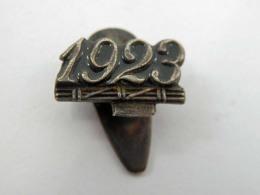 Vecchia Spilla Distintivo 1923 Fascio Fascismo Old Pin Fascista Anno - Militari