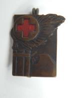 Vecchia Spilla Distintivo Croce Rossa Fascio Fascismo Old Pin Fascista - Militaria