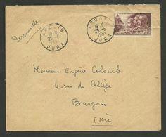 Enveloppe Illustrée Verso / ARBOIS - JURA / Grand Vin Rosé HENRI MAIRE / 1951 - Marcophilie (Lettres)