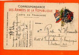 Correspondance Des Armées De La République - Carte En Franchise - - Cartes De Franchise Militaire