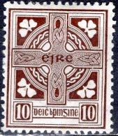 IRELAND 1922 Celtic Cross - 10d - Brown MH - 1922-37 Stato Libero D'Irlanda