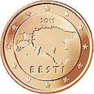 Estland  2011   2 Cent  Deze Munt Komt Uit De Rol    UNC Du Rouleaux  !!!!! - Estonia