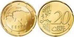 Estland  2011   20 Cent  Deze Munt Komt Uit De Rol    UNC Du Rouleaux  !!!!! - Estonia