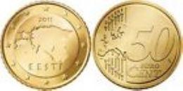 Estland  2011   50 Cent  Deze Munt Komt Uit De Rol    UNC Du Rouleaux  !!!!! - Estonia