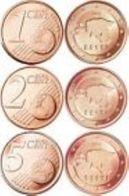 Estland  2011   1-2-5 Cent (miniset)  Deze Muntjes Komen Uit De Rol    UNC Du Rouleaux  !!!!! - Estonia