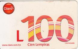 HONDURAS - Claro Prepaid Card L100, Used - Honduras