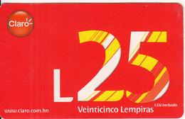 HONDURAS - Claro Prepaid Card L25, Used - Honduras